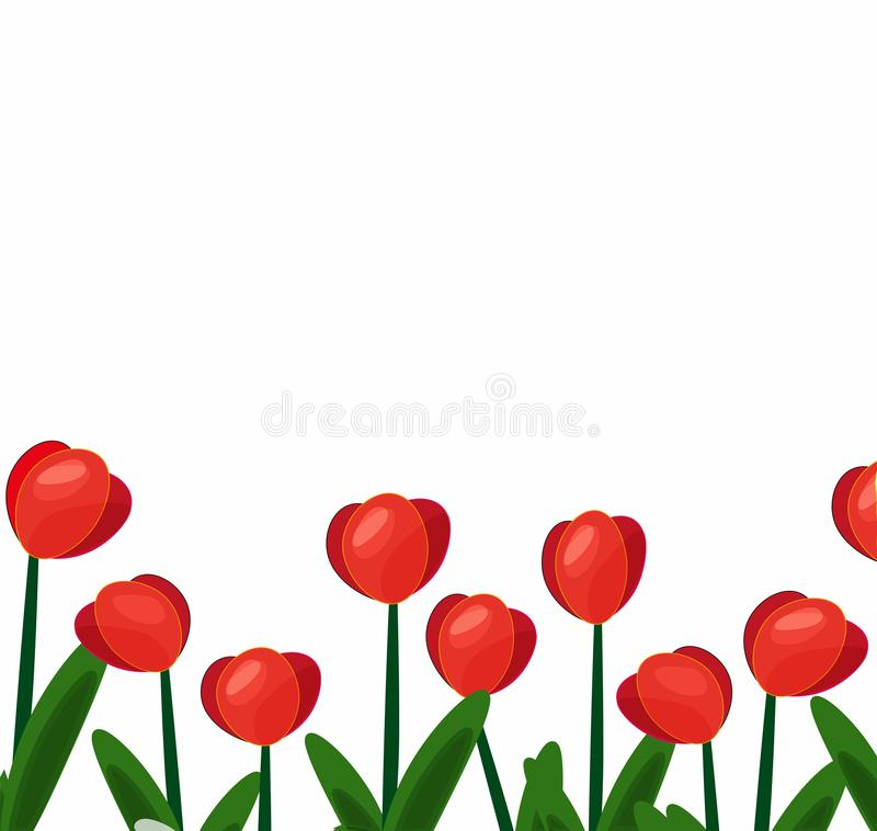 Tulipes background-01 rouge illustration libre de droits