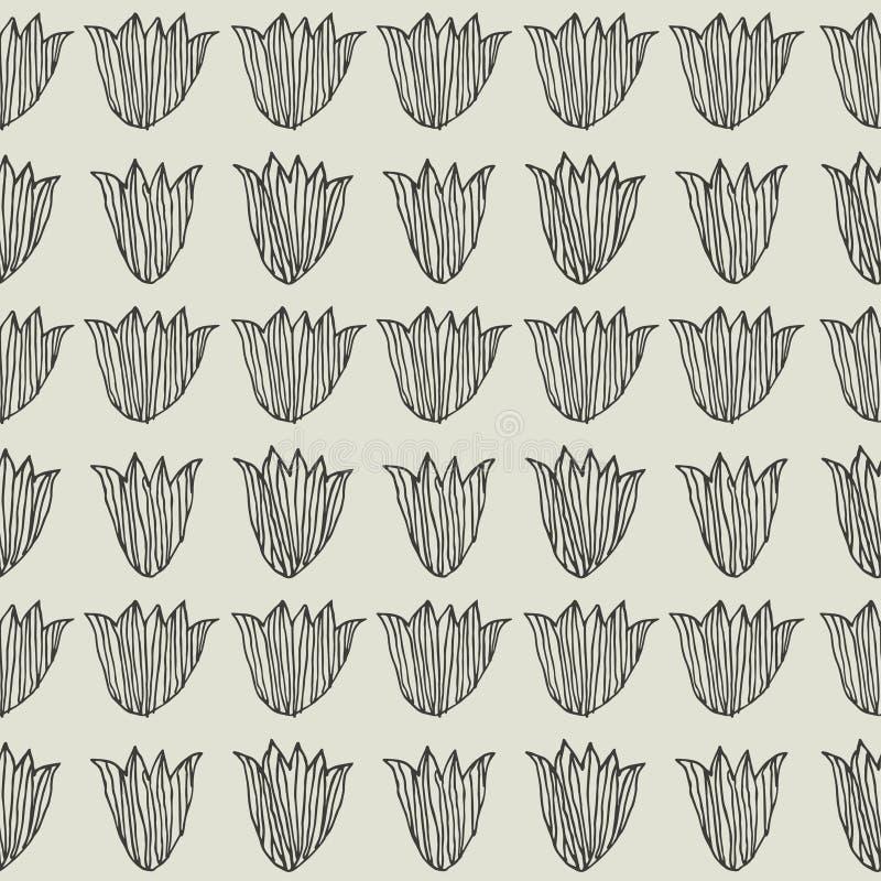 Tulipes Configuration florale sans joint illustration libre de droits
