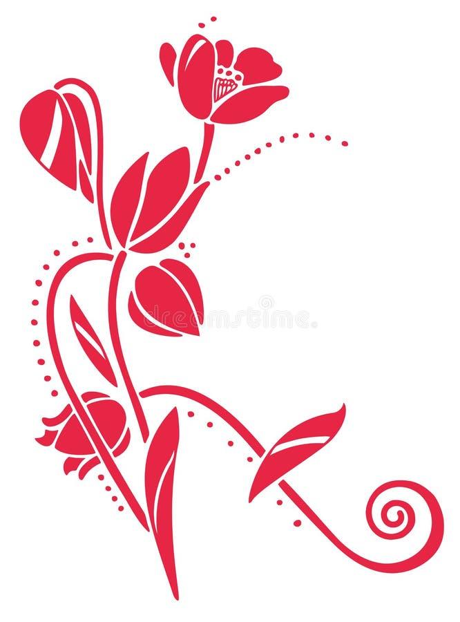 Tulipes de vecteur illustration de vecteur