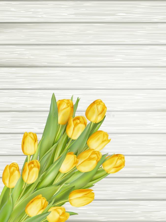 Tulipes jaunes ENV 10 illustration stock