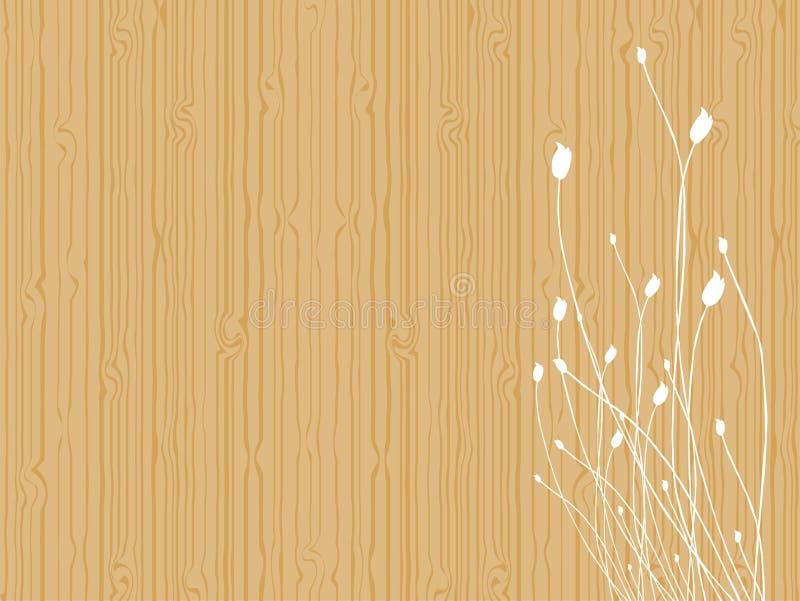 Tulipes sur le bois illustration libre de droits