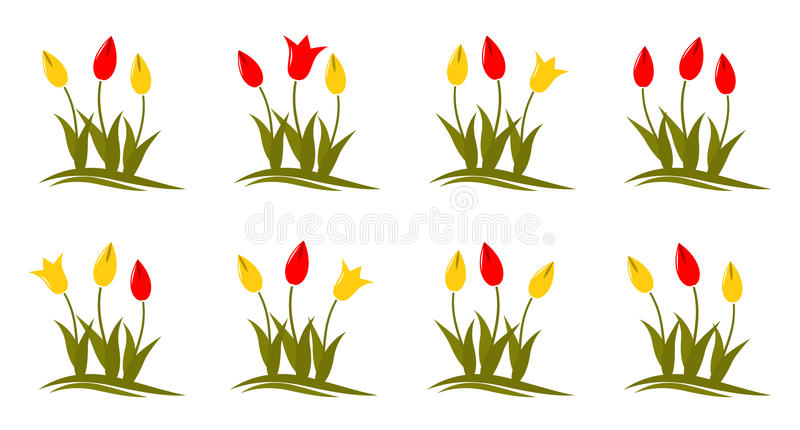 Download Tulips stock vector. Image of floral, leaves, plant, spring - 17783502