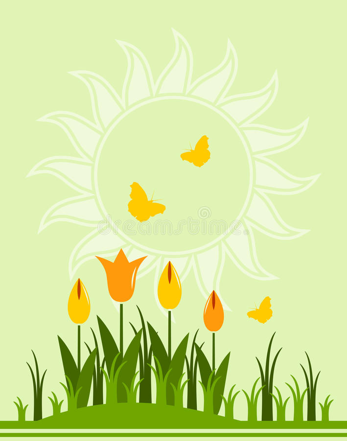 Download Tulips background stock vector. Illustration of floral - 19353968