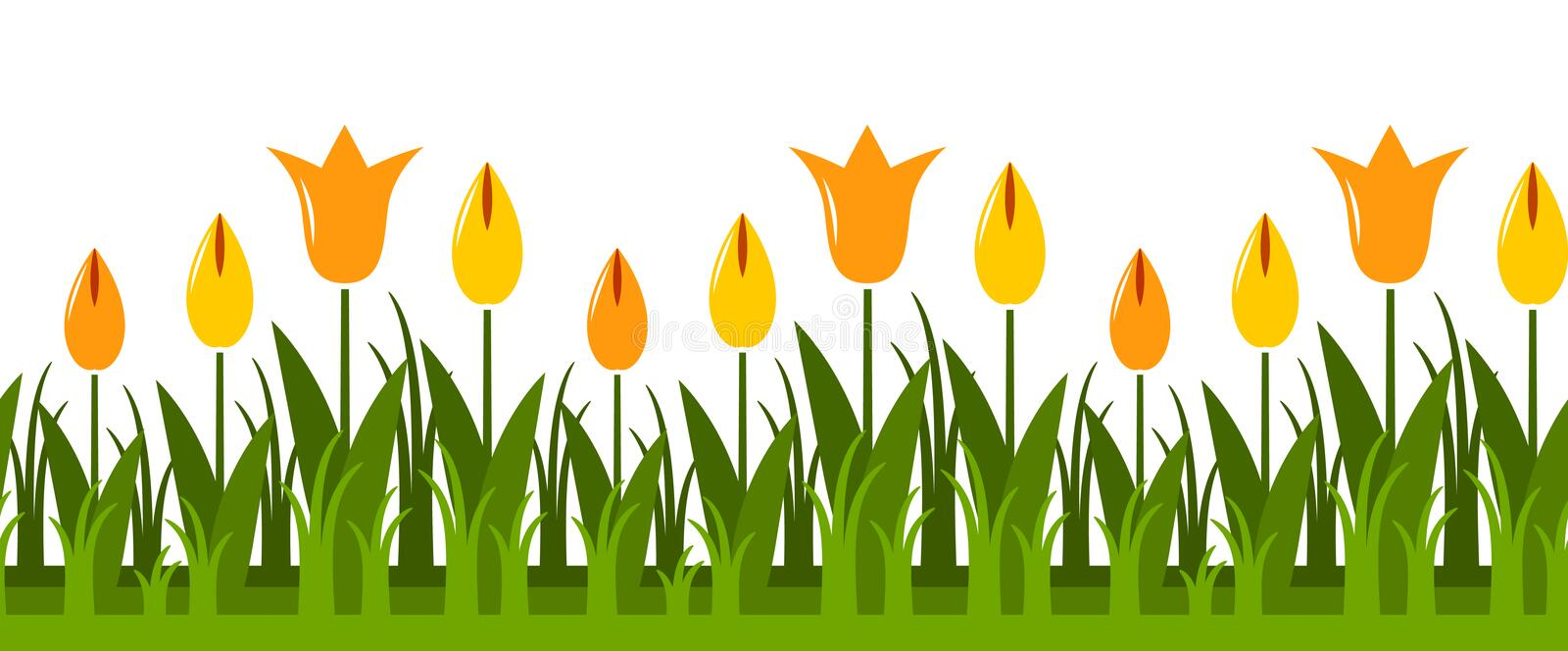Download Tulips border stock vector. Image of border, plant, abstract - 21553665