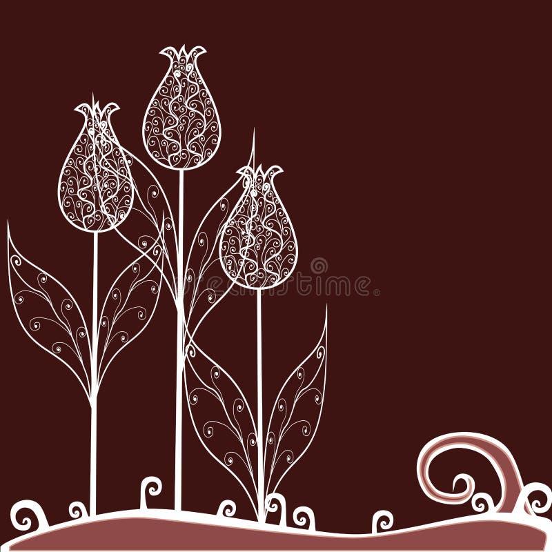 Tulips do Tracery ilustração royalty free