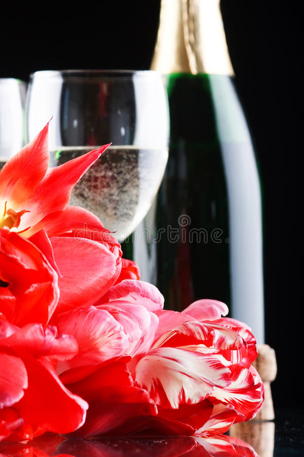 Download Tulips and fizz stock image. Image of celebrate, card - 13028357