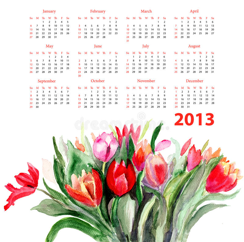 Download Tulips flowers stock illustration. Image of spot, summer - 26285124