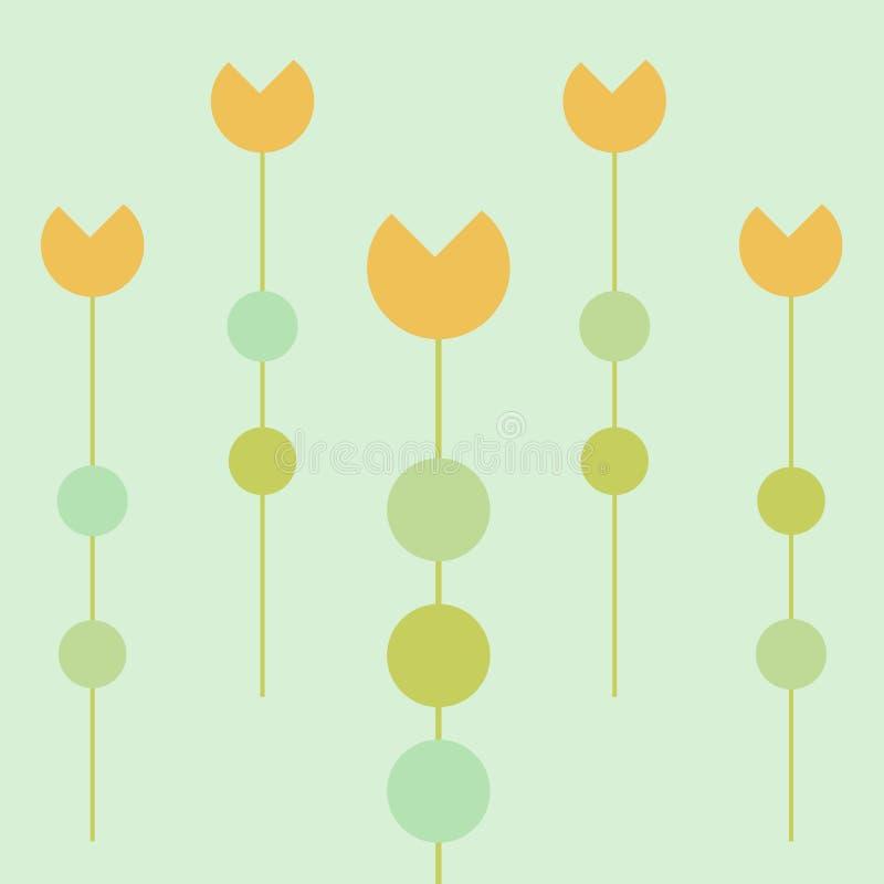 Download Tulips garden stock illustration. Illustration of pattern - 6856780