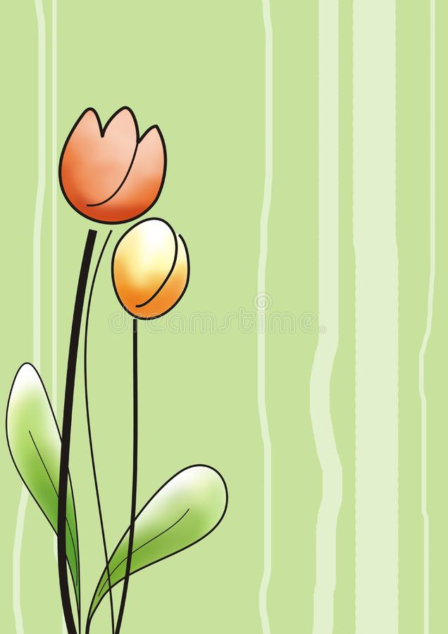 Download Tulips greeting card stock illustration. Illustration of kids - 13972015