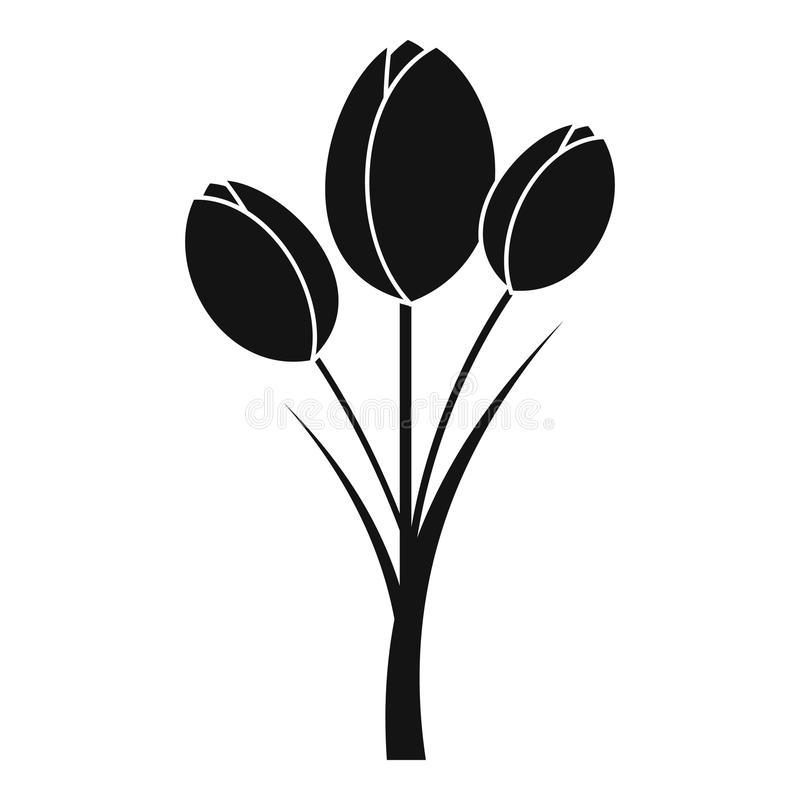 Tulips icon , simple style vector illustration
