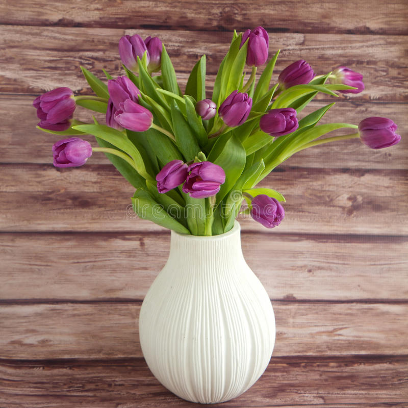 Free Tulips In A Vase Stock Photos - 41958583