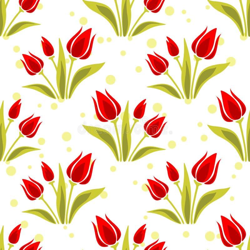 tulips seamless pattern stock vector  illustration of green