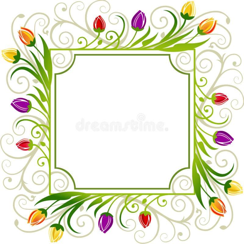 Download Tulips spring frame stock vector. Illustration of floral - 21045544
