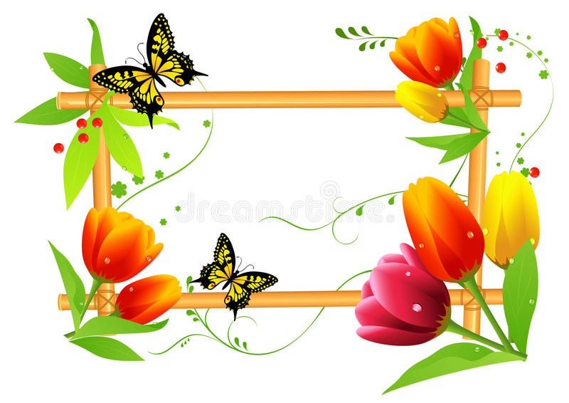 Download Tulips summer frame stock vector. Illustration of posy - 10962614