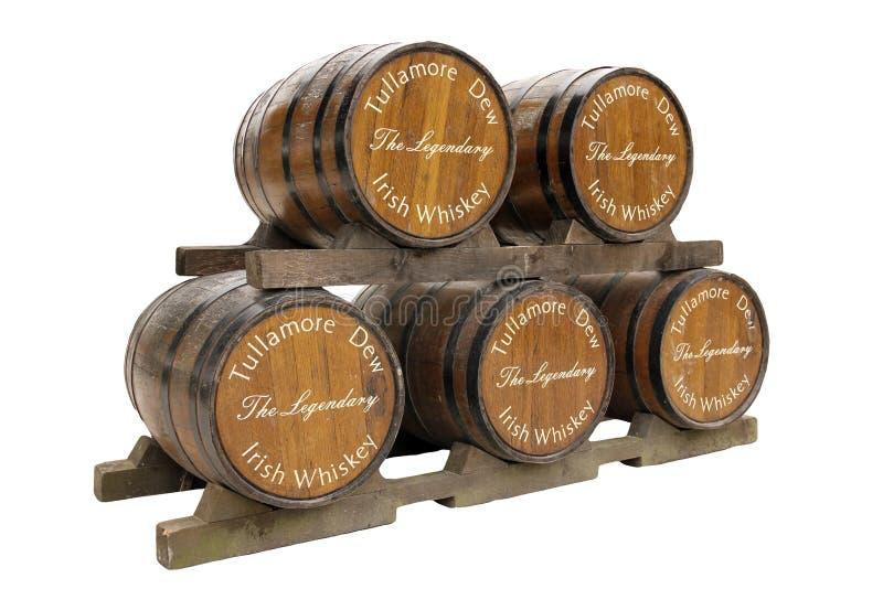 Tullamore rosy whisky drewniane beczki. Irlandia zdjęcia royalty free