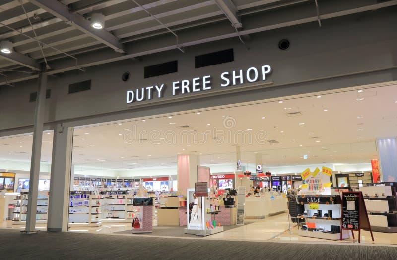 Tullfritt shoppa den Kanasai flygplatsen Japan arkivfoton