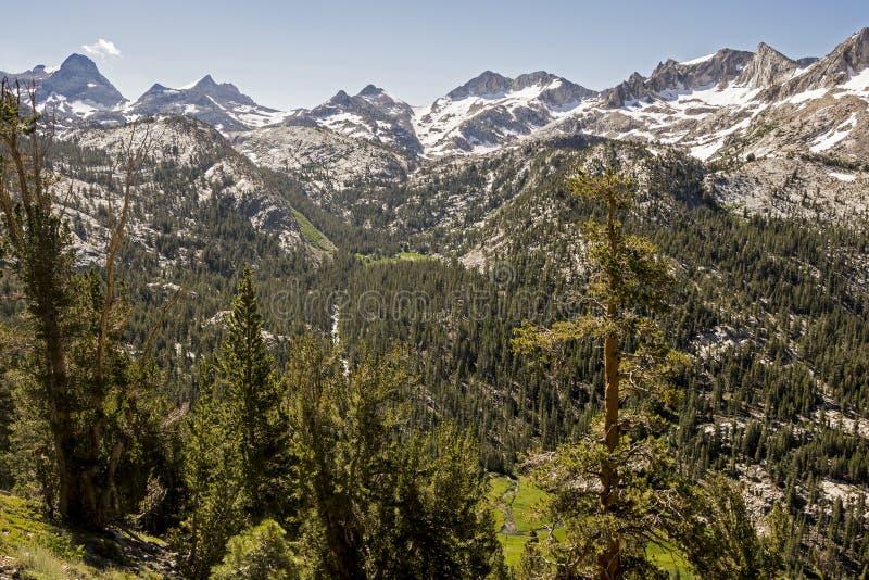 Tully Hole, John Muir Wilderness, Kalifornien lizenzfreie stockfotografie