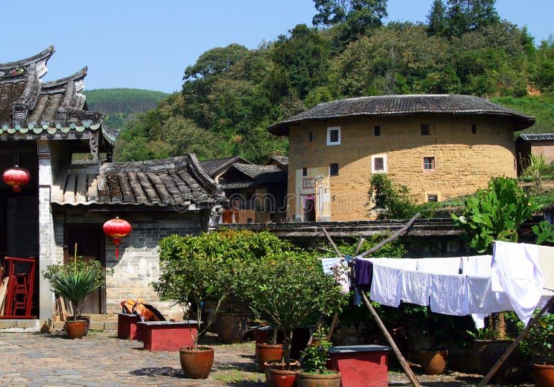 Tulou, abitazione tradizionale della hakka etnica in Yongding, Cina fotografie stock libere da diritti