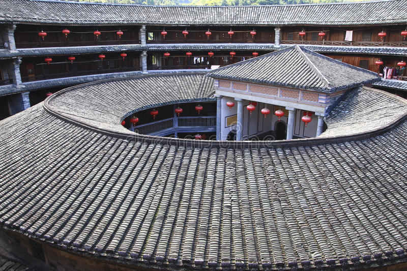 Download Tulou in china stock photo. Image of group, temple, chenqi - 18587122