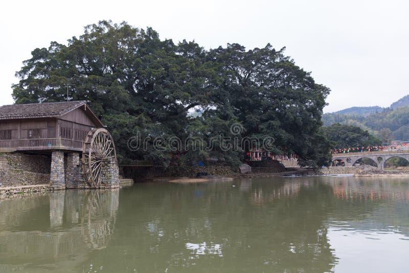 Tulou di hakka situato in fujian, porcellana immagine stock libera da diritti