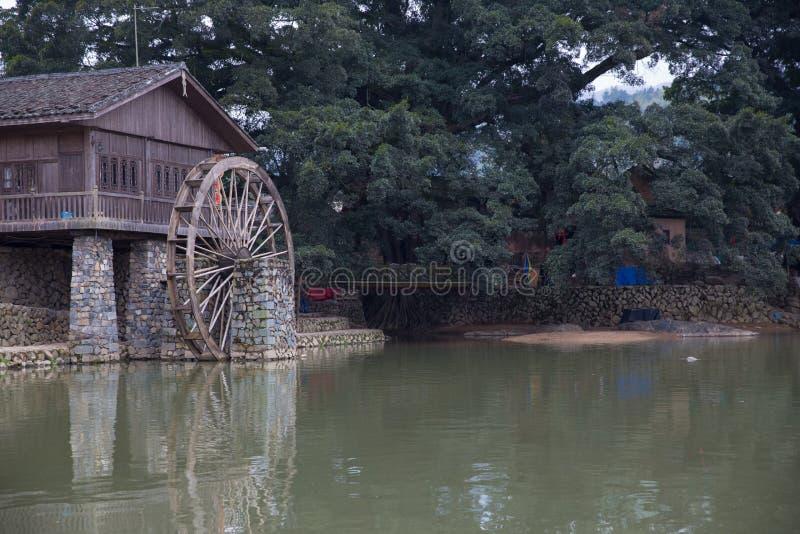 Tulou di hakka situato in fujian, porcellana fotografie stock