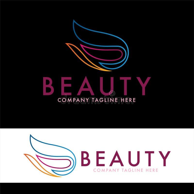 Tulp en de ontwerpsjabloon van het schoonheidsembleem stock illustratie