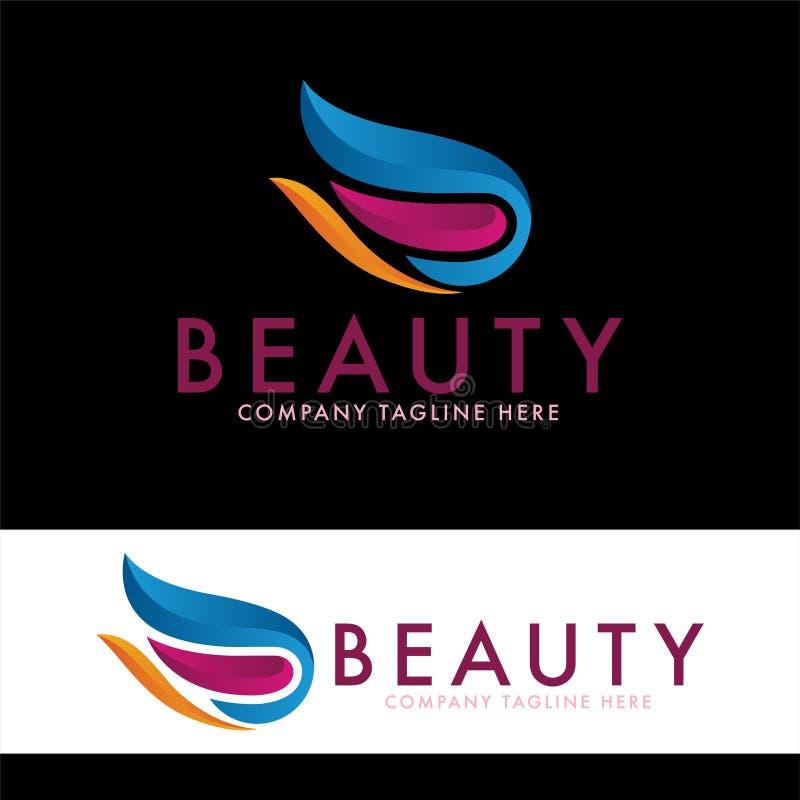 Tulp en de ontwerpsjabloon van het schoonheidsembleem royalty-vrije illustratie