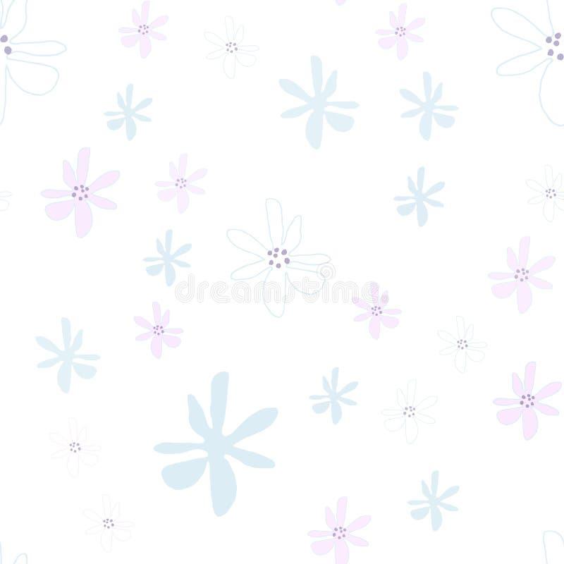 Tulpan för ljus för whith för modell för blek vektor för pastellfärgad färg sömlösa Textur för inpackningspapper, scrapbooking de royaltyfria foton