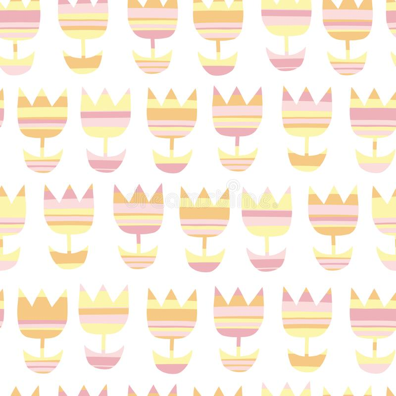 Tulpanblommor som upprepar bakgrundshöstfärger stock illustrationer