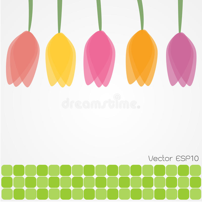 Tulpe blüht Hintergrund stock abbildung