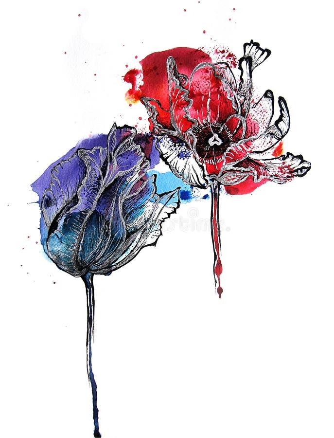 Tulpen stock abbildung