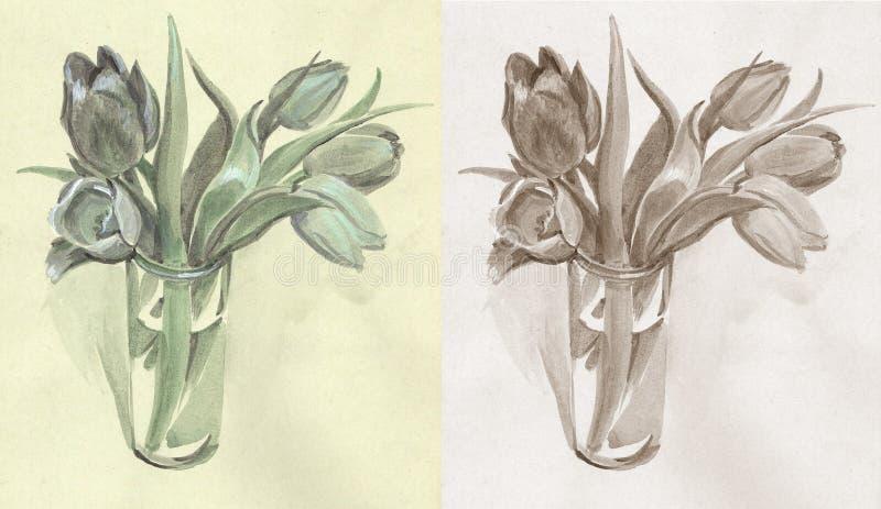 Tulpen einfarbig stockfotografie