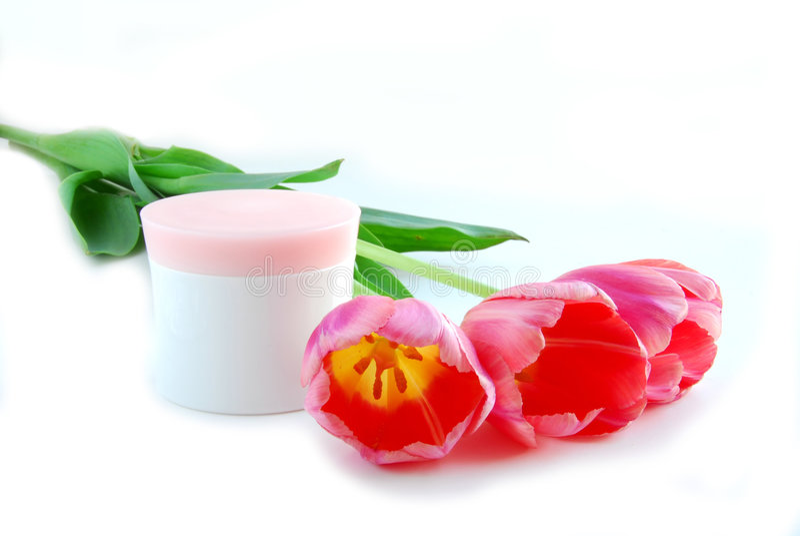 Tulpen en room stock foto's