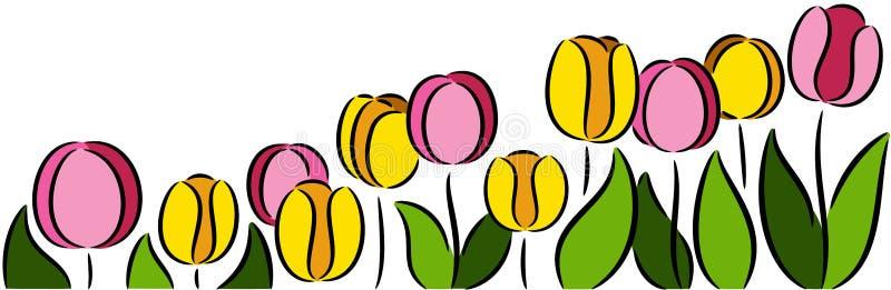 Tulpenblumen stock abbildung