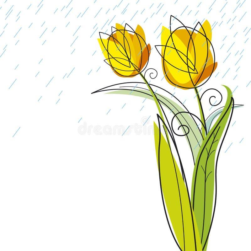 Tulpenentwurf stock abbildung