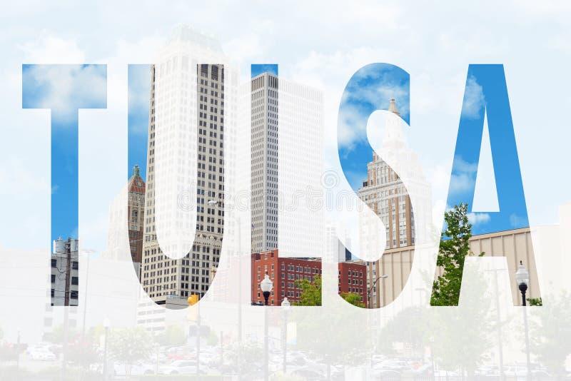 Tulsa στο σύμβολο στοκ εικόνα με δικαίωμα ελεύθερης χρήσης