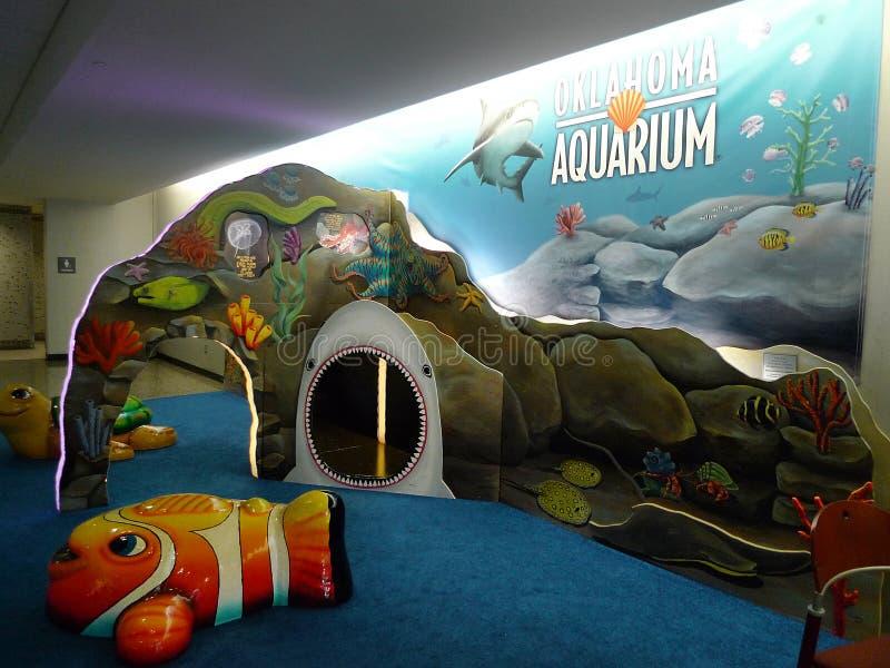 Tulsa International Airport Aquarium play area for children stock photography