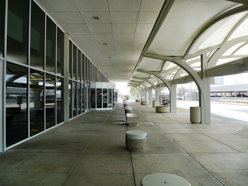 Tulsa International Airport exterior daytime, nobody stock photos