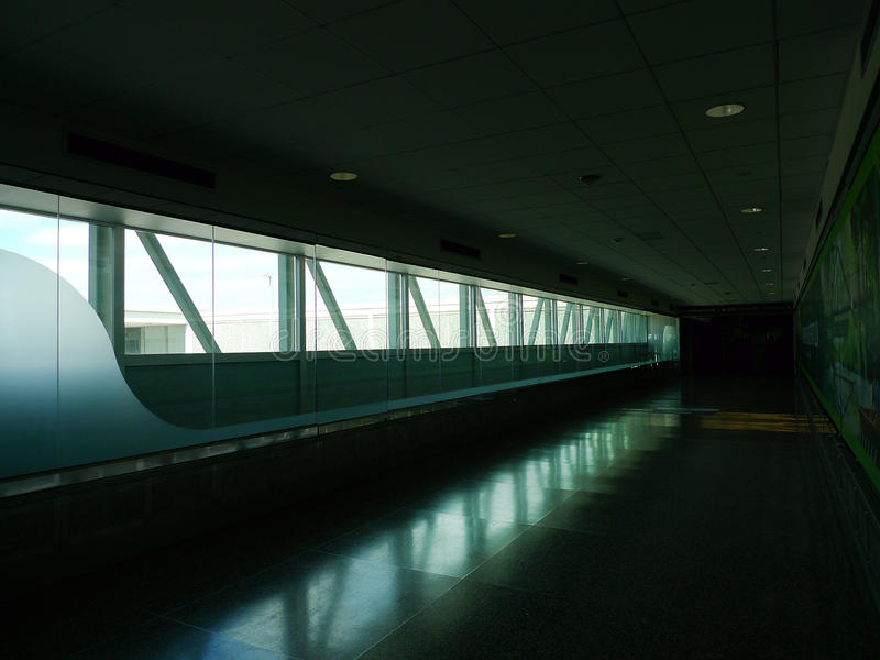 Tulsa International Airport interior. Tulsa, Oklahoma airport, located at 7777 East Apache, Tulsa, Oklahoma. Flights within the United States with American stock image