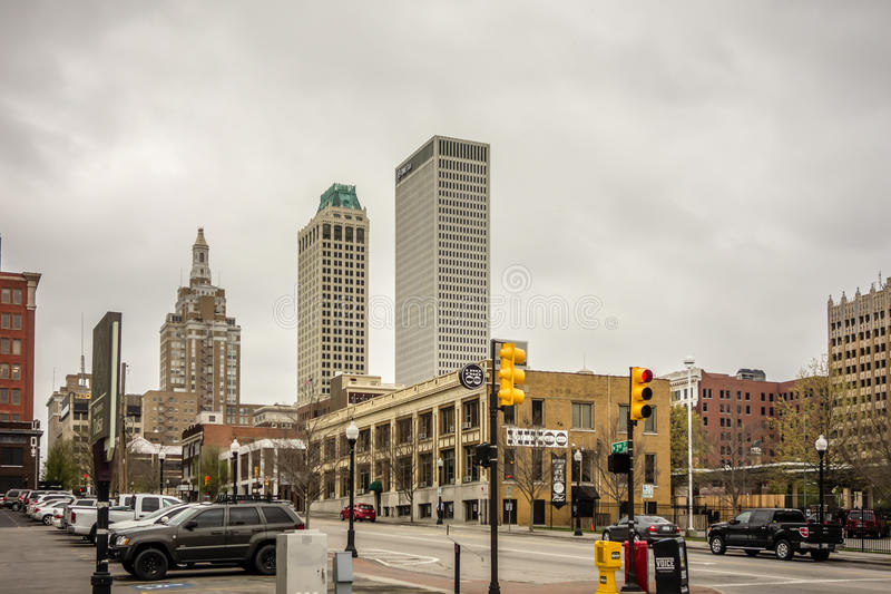 Tulsa oklahoma city skyline stock photography