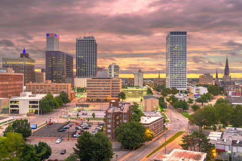 Tulsa, Oklahoma, USA Cityscape stockfotos