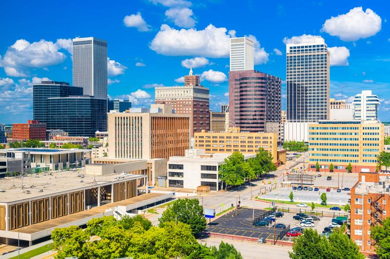 Tulsa, Oklahoma, USA downtown city skyline. In the afternoon royalty free stock images