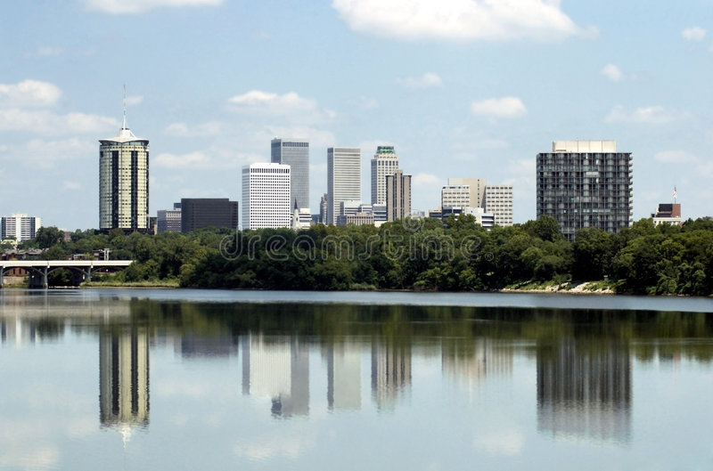 Tulsa Skyline royalty free stock image