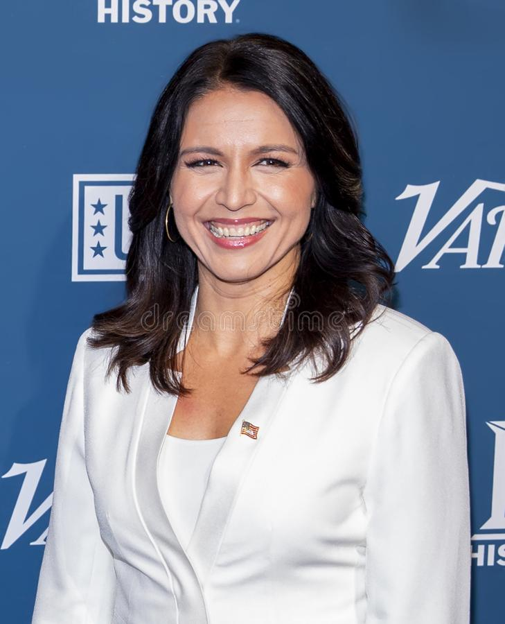 Tulsi Gabbard at the Variety 3rd Annual Salute to Service royalty free stock photography