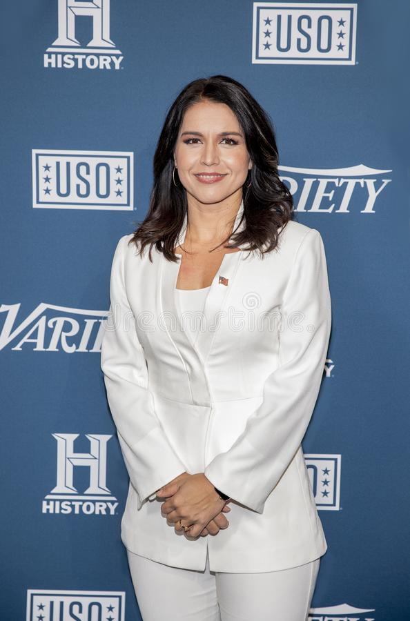 Tulsi Gabbard at the Variety 3rd Annual Salute to Service stock photography