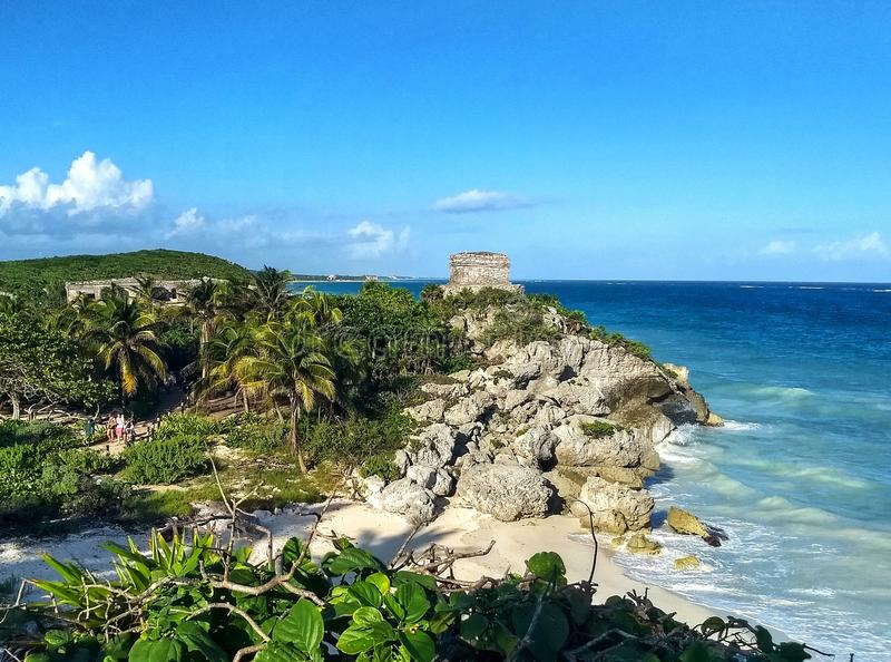 Tulum海滩 免版税库存照片