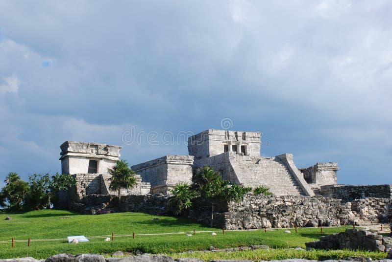 tulum καταστροφών του Μεξικ&omicro στοκ εικόνα με δικαίωμα ελεύθερης χρήσης