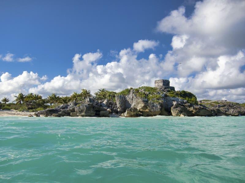 Майяские руины Tulum - Мексики стоковые изображения rf