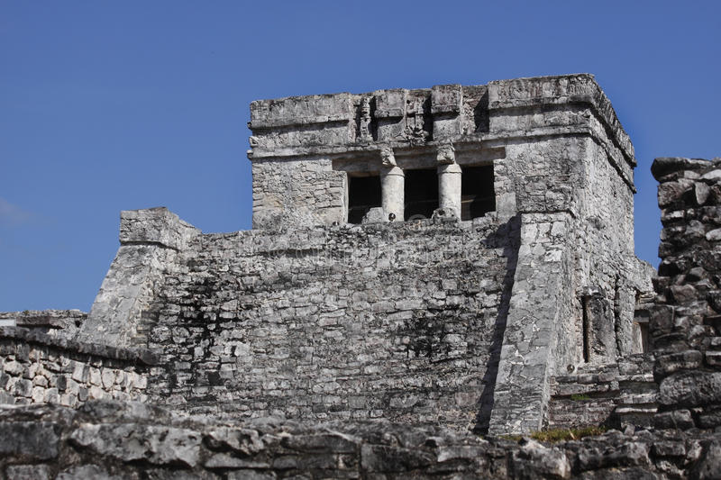 Tulum Mayan Temple Stock Images