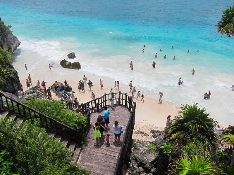 Tulum Beach royalty free stock images